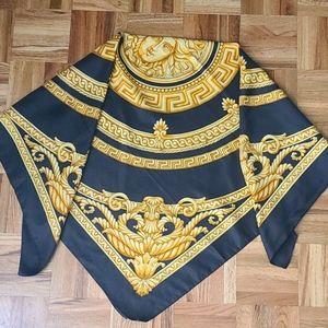 Versace Medusa-head motif silk scarf reversible